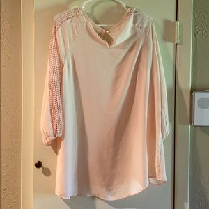 Est. 1946 Tops - Est. 1956 Women's Light Pink/ Blush Dress Shirt